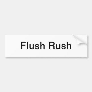 Flush Rush Bumper Sticker - Flush Rush Limbaugh Car Bumper Sticker