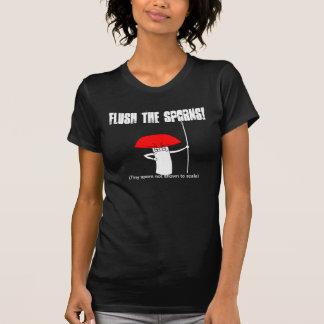 Flush the sporns! t shirt