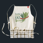 """Flush Your Fat 4Good Apron<br><div class=""""desc"""">Cute apron with gingham print at bottom with Flush Your Fat 4Good Logo.</div>"""