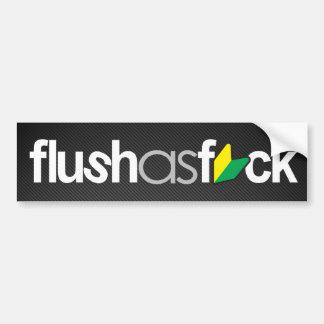 flushasfck (faux carbon fiber) car bumper sticker