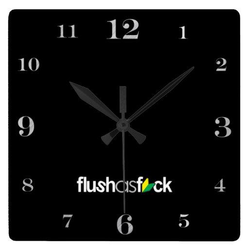 flushasfck relojes de pared