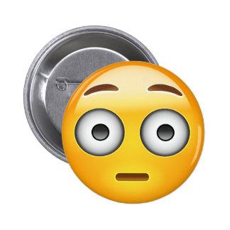 Flushed Face Emoji 2 Inch Round Button