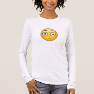 Flushed Face Emoji Long Sleeve T-Shirt