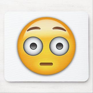 Flushed Face Emoji Mouse Pad