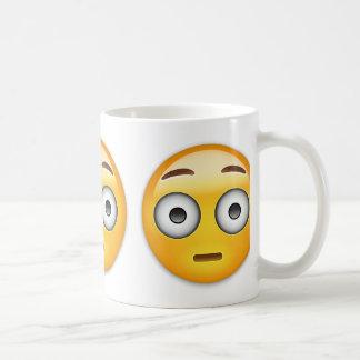 Flushed Face Emoji Classic White Coffee Mug