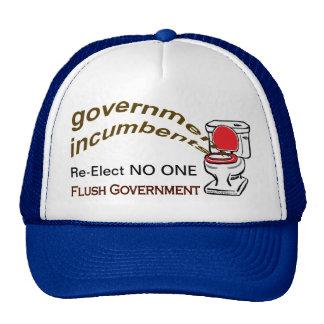 FlushGov Logo - Re-Elect NO ONE - Cap Hats