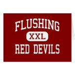 Flushing - Red Devils - High - Flushing New York Greeting Cards