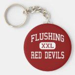 Flushing - Red Devils - High - Flushing New York Key Chains