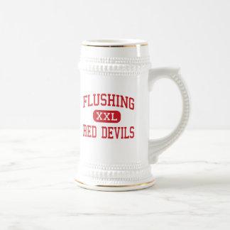Flushing - Red Devils - High - Flushing New York Coffee Mug