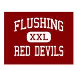 Flushing - Red Devils - High - Flushing New York Post Cards