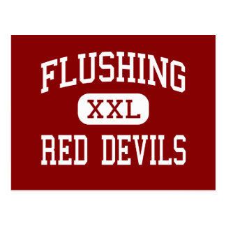 Flushing - Red Devils - High - Flushing New York Postcard