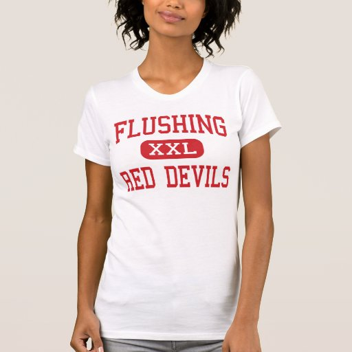 Flushing - Red Devils - High - Flushing New York Tshirts