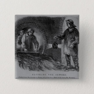 Flushing the Sewers Pinback Button