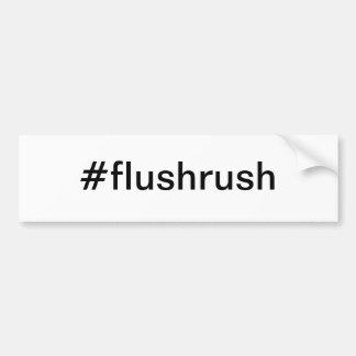 #flushrush Bumper Sticker - Flush Rush Limbaugh Car Bumper Sticker