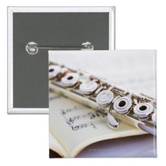 Flute 2 pinback button
