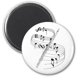 Flute 2 Inch Round Magnet
