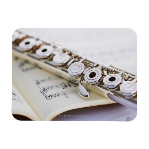 Flute 2 rectangular photo magnet