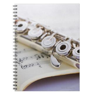Flute 2 spiral notebook