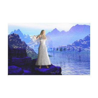 Flute Angel 2 Stretched Canvas Print