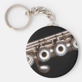 Flute Basic Round Button Keychain