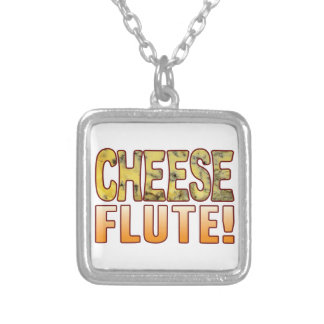 Flute Blue Cheese Silver Plated Necklace
