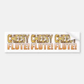 Flute Blue Cheesy Bumper Sticker
