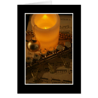 Flute Candle Notation Card