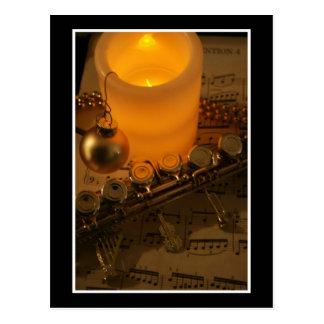 Flute Candle Notation Postcard