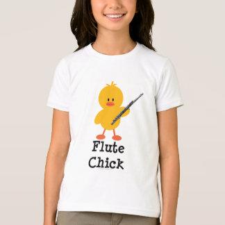 Flute Chick Kids Ringer Tee