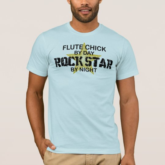 Flute Chick Rock Star by Night T-Shirt