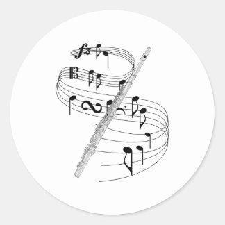 Flute Classic Round Sticker