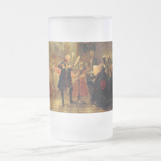 Flute Concert with Frederick the Great Frosted Glass Beer Mug