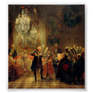 Flute Concert with Frederick the Great Print