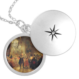 Flute Concert with Frederick the Great Round Locket Necklace