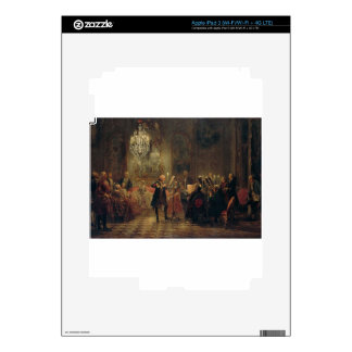 Flute Concert with Frederick the Great Sanssouci Decal For iPad 3