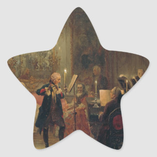 Flute Concert with Frederick the Great Sanssouci Star Sticker