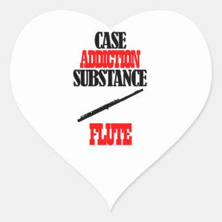 Flute designs heart stickers