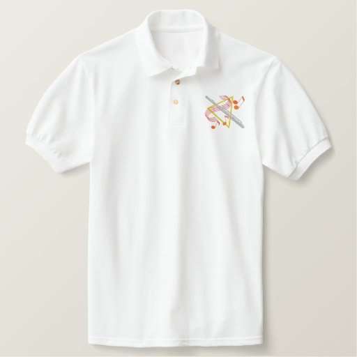 Flute Embroidered Polo Shirt