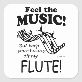 Flute Feel The Music Square Sticker
