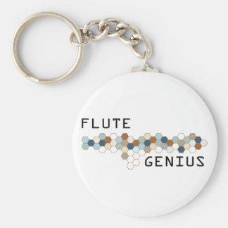 Flute Genius Basic Round Button Keychain