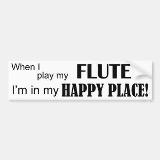 Flute Happy Place Bumper Sticker
