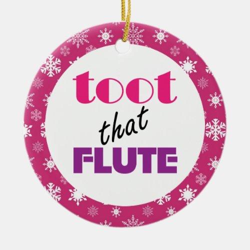 Flute Humor Music Christmas Ornament Gift