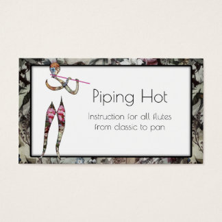 Flute Instruction for All Types of Pipes Business Card