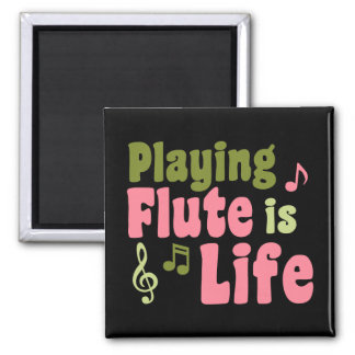 Flute is Life 2 Inch Square Magnet