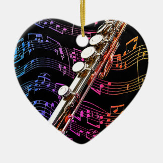 Flute is my Passion_ Ceramic Ornament