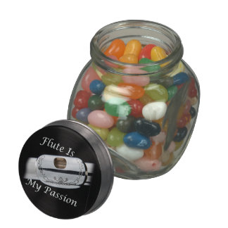 Flute is My Passion for Musician Kitchen Dining Glass Jar