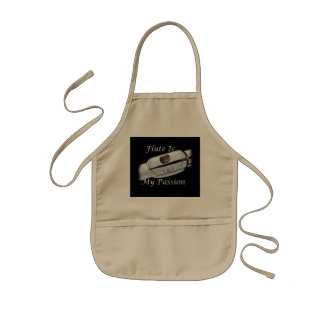 Flute is My Passion for Musician Kitchen Dining Kids' Apron