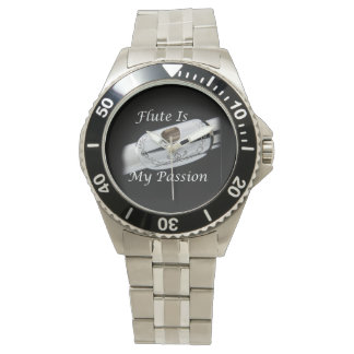 Flute is My Passion for Musician Wrist Watch