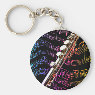 Flute is my Passion_ Keychain
