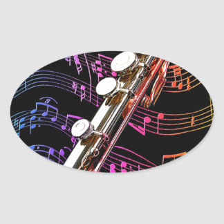 Flute is my Passion_ Oval Sticker